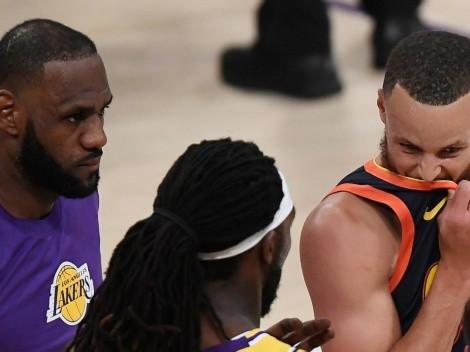 ¿Se le burló en la cara? El polémico gesto de LeBron James a Stephen Curry