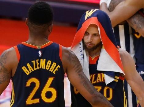 La imagen de la NBA: Warriors quedó eliminado con Curry en la banca