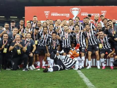Atlético Mineiro con Eduardo Vargas se coronó campeón del torneo estadual