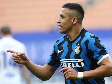 ¡En idioma italiano! Alexis dedica el Scudetto con el Inter a Chile y su familia