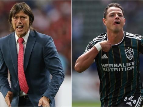 Almeyda calienta el partido contra Chicharito en la MLS