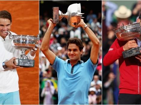 Roland Garros 2021 ¡Nadal, Djokovic y Federer están en el mismo lado del cuadro!