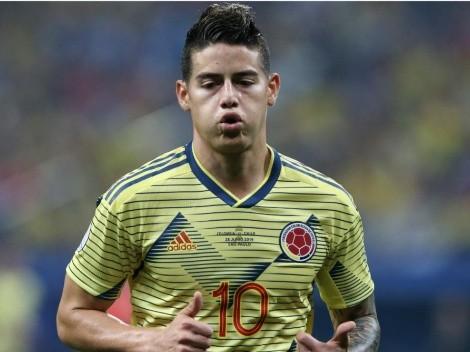 Oficial: James Rodríguez no jugará la Copa América