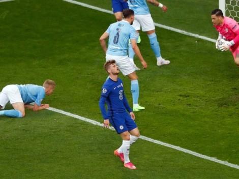 Video: Timo Werner falló 3 goles con Chelsea en 15 minutos