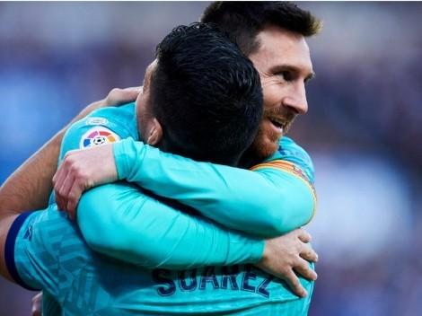 Luis Suárez asegura que Messi seguirá en Barcelona