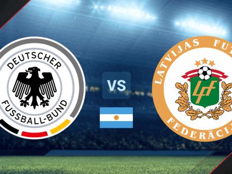 Cómo ver en Argentina el amistoso de Alemania vs. Letonia