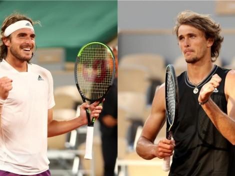 Tsitsipas y Zverev animarán la primera semifinal de Roland Garros 2021