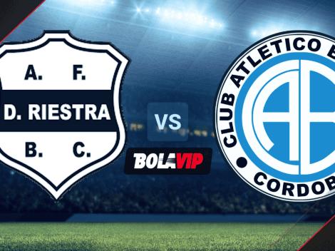 Sigue EN VIVO ONLINE Deportivo Riestra vs. Belgrano | TV y Streaming para mirar EN DIRECTO GRATIS el choque por la Primera Nacional