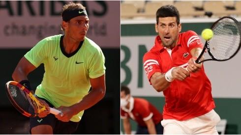 Rafael Nadal (left) and Novak Djokovic (Getty).