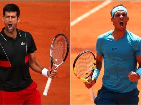 Novak Djokovic x Rafael Nadal: data, hora e canal para assistir AO VIVO ao confronto da semifinal do Roland Garros