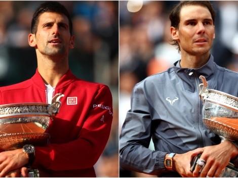 Novak Djokovic x Rafael Nadal: como assistir AO VIVO ao duelo válido pelas semifinais do Roland Garros 2021