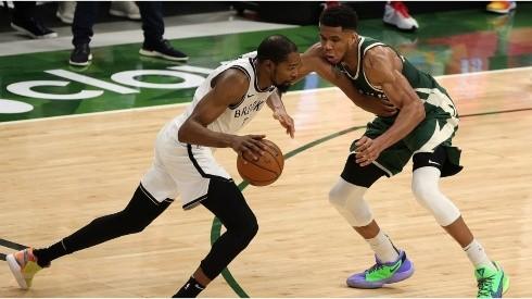 Kevin Durant & Giannis Antetokounmpo. (Getty)