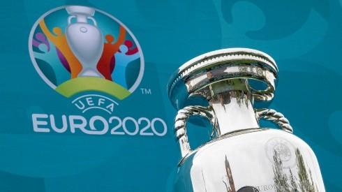 The UEFA Euro 2020 Trophy. (Getty)