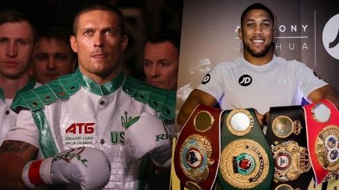 Joshua y Usyk se enfrentarán el próximo 25 de septiembre. (Foto: Getty)
