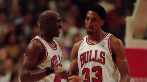 Michael Jordan & Scottie Pippen. (Getty)