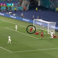 Video: el primer gol de la Eurocopa fue en contra y lo festejó Italia