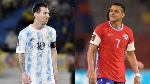 Lionel Messi (left) and Alexis Sanchez (right). (Getty)