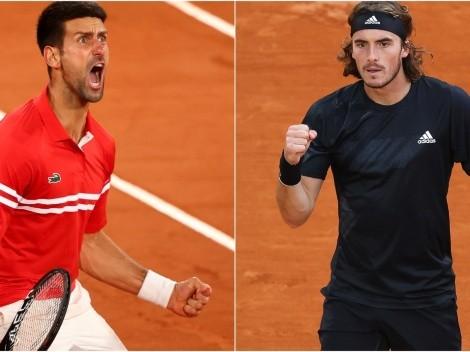 Novak Djokovic x Stefanos Tsitsipas: onde assistir AO VIVO e ONLINE à partida válida pela final do Roland Garros 2021