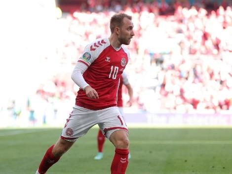 Christian Eriksen se desvanece en la cancha en el partido de Dinamarca