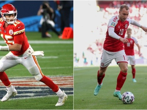 Patrick Mahomes y estrellas de NFL se expresaron en solidaridad con Christian Eriksen