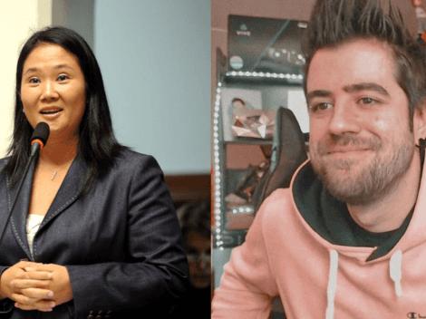 """""""Dulces quince años"""": AuronPlay saluda a Keiko Fujimori tras perder ante Pedro Castillo"""