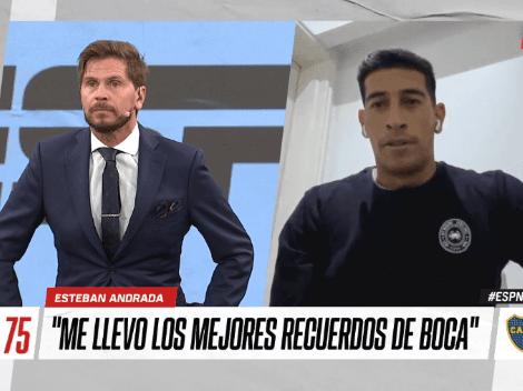 """Esteban Andrada ilusionó al hincha de Boca: """"No descarto la posibilidad de volver en un futuro"""""""