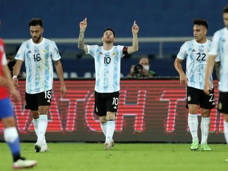 Lionel Messi anotó el 1-0 con un golazo para Argentina