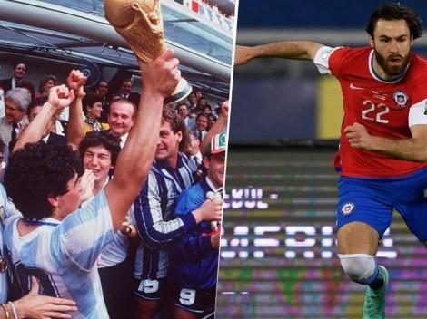 A ver si ganamos un Mundial: Chile comparó a su jugador inglés con Maradona
