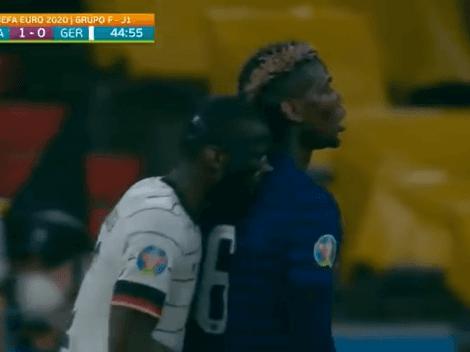 Video: Rudiger emuló a Suárez y mordió a Pogba en pleno partido