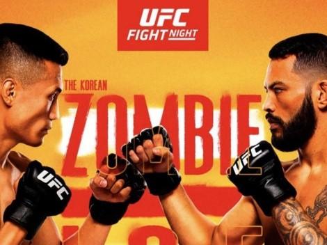 VER HOY EN VIVO UFC Fight Night | The Korean Zombie vs. Daniel Ige | Horarios, cartelera completa y canales de TV