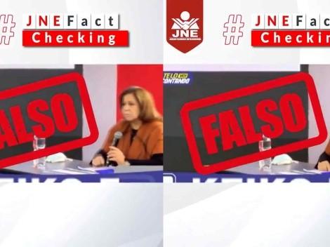 Le hicieron el Fact Checking: JNE desmintió afirmación de Lourdes Flores Nano