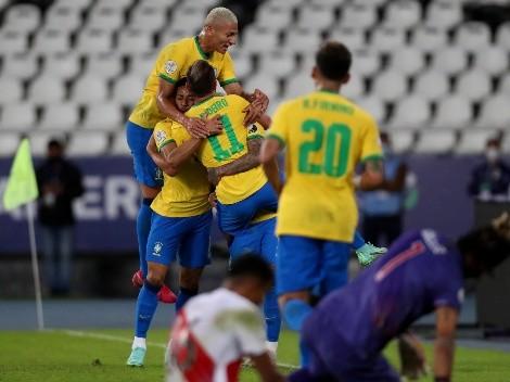 A puro tiki-tiki: dos golazos de Brasil para transformar la victoria en goleada
