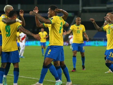 Brasil saca chapa de campeón tras goleada a Perú