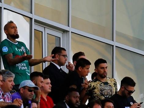 Emojis de furia: Vidal molesto con el arbitraje tras ver imágenes de la caída de Rodelindo Román