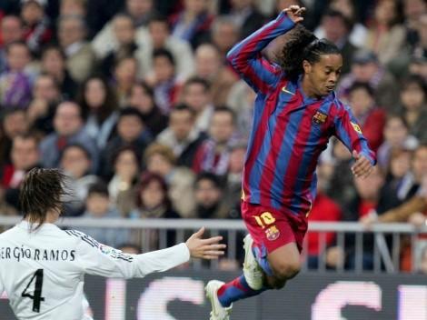 Ronaldinho quiso 'burlarse' de Sergio Ramos y este lo terminó 'vacilando'