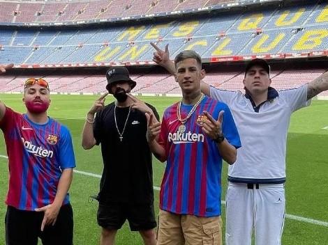L-Gante pisó el Camp Nou y le mandó un mensaje a Messi antes del partido por Copa América