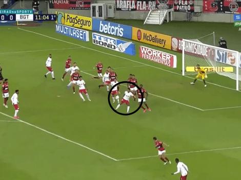 Candidato al Puskas: taco aéreo y golazo de Bragantino contra Flamengo