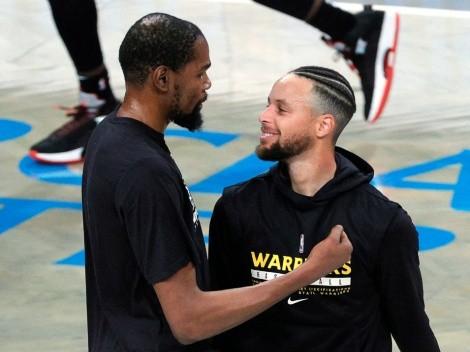 La reacción de Curry durante la derrota de Kevin Durant en Playoffs