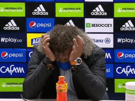 Emotivo gesto de Gamero: llora en plena rueda de prensa tras derrota de Millonarios