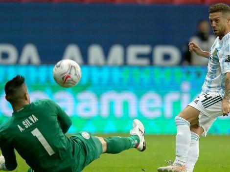 Intervalo de jogo: Argentina 1x0 Paraguai; veja o resumo e as estatísticas da primeira etapa
