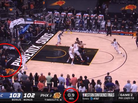Video histórico: los Suns tenían 0.9 segundos para anotarle a los Clippers y pasó esto