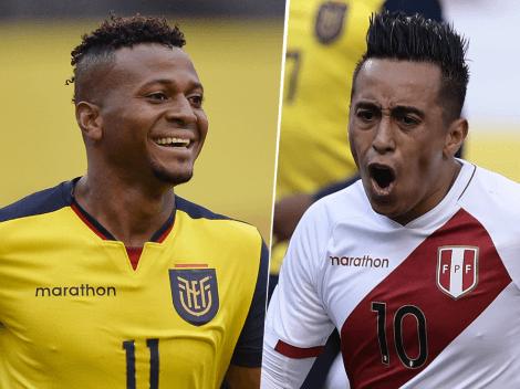 Perú remontó un 0-2 e igualó por 2-2 ante Ecuador