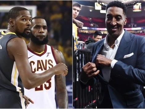 LeBron desató la 'guerra': Pippen le responde a Durant con un título del 'Rey'