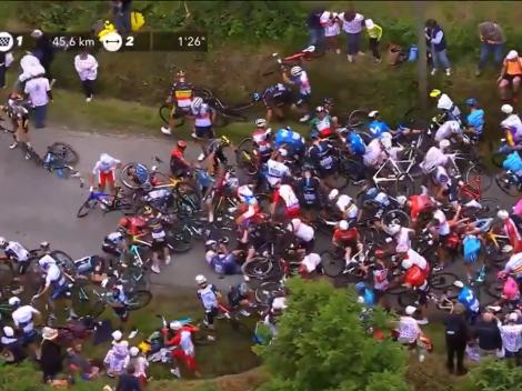 Caos en el Tour de Francia: se produjeron dos duras caídas múltiples