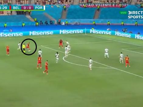 Video: Thorgan Hazard sacó un bombazo de afuera y puso el 1-0 de Belgica ante Portugal