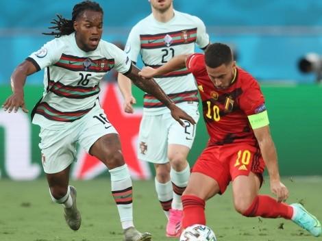 Eden Hazard fue quien duelos ganó y regates completó vs. Portugal