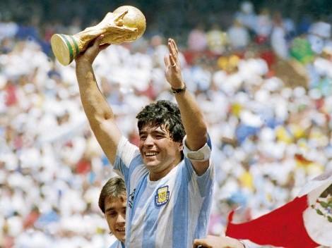 Inauguran mural de Maradona en las afueras del Estadio Azteca