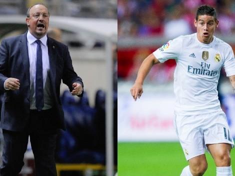 Los números de James Rodríguez con Rafael Benítez que lo harían huir del Everton