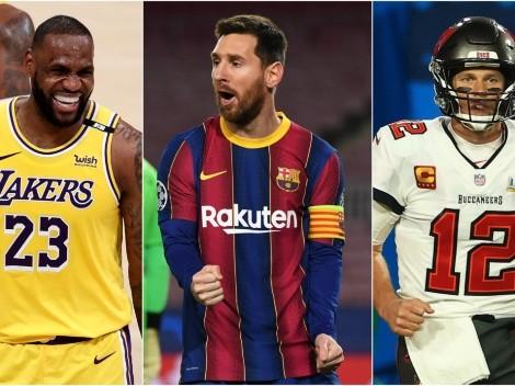 Los millones de Messi barren ganancias de LeBron y Brady