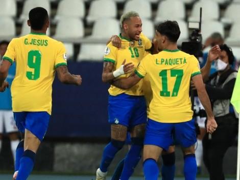 Les sale todo: Brasil aguantó con uno menos y le ganó 1 a 0 a Chile